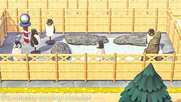 Custom Penguin Zoo Exhibit - ACNH Idea