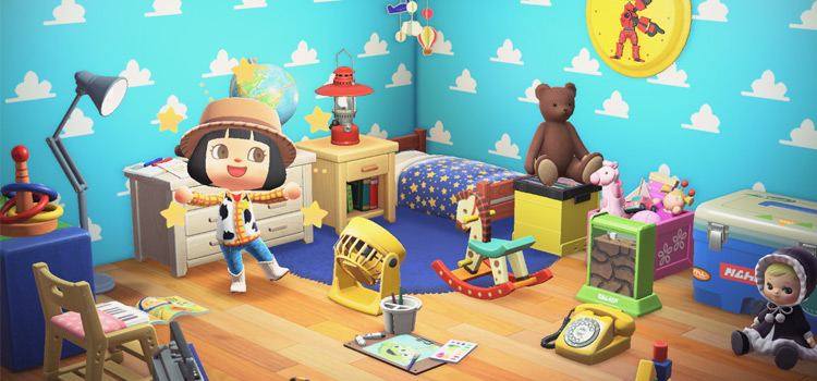 Toy Story Customized Bedroom Decor - ACNH Preview