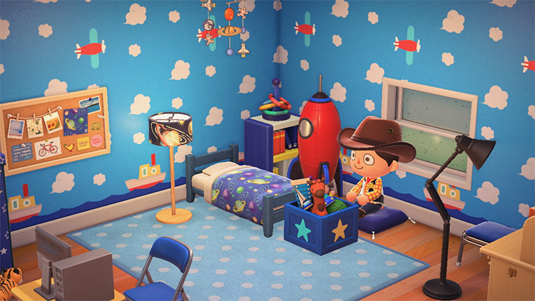 Andy's Bedroom Designed in ACNH
