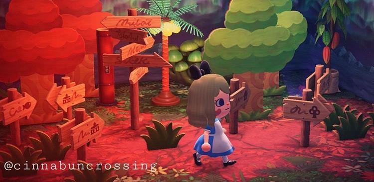 Alice in Wonderland Design Build - ACNH Idea