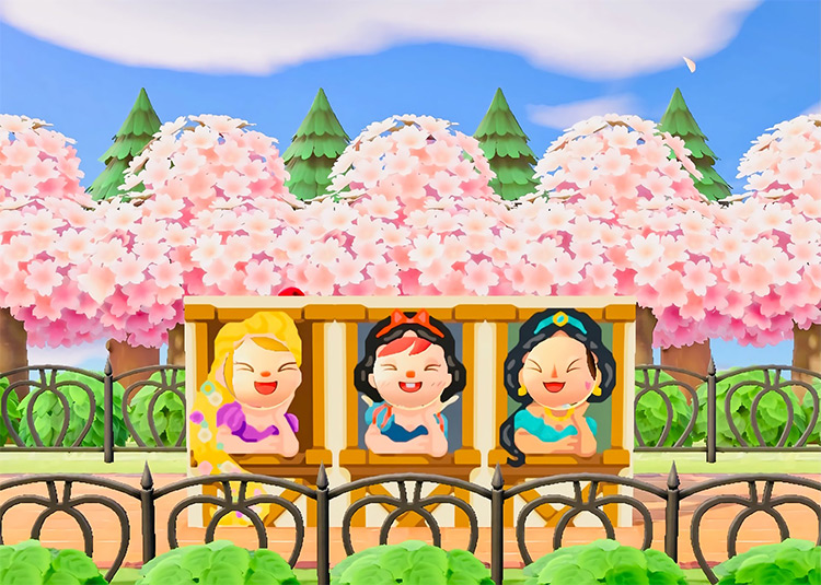 Princess Park Standees in ACNH
