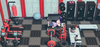 Custom indoor gym room - ACNH Screenshot