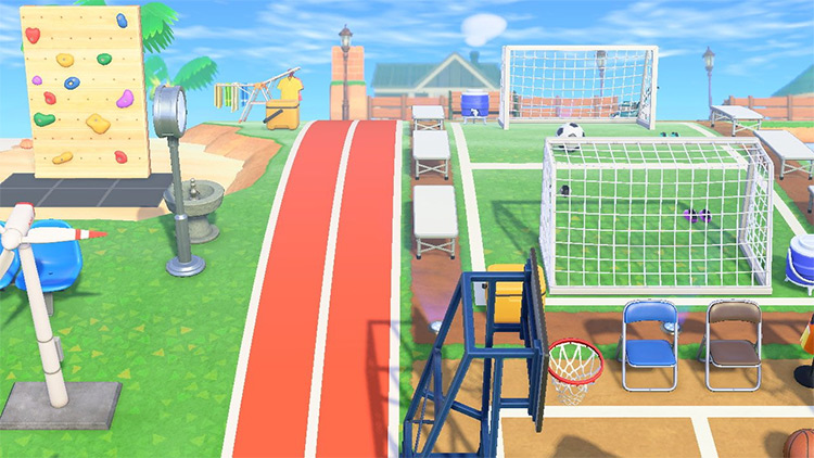 Soccer & Basketball area in ACNH