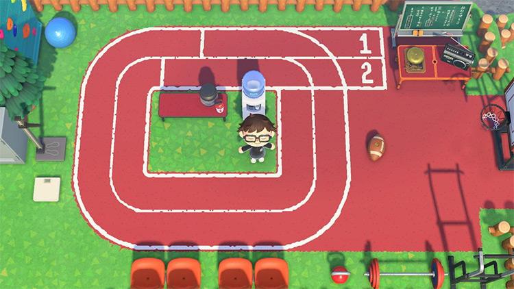 Outdoor track field - ACNH Idea