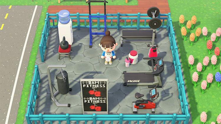 Tiny workout square area - ACNH Idea
