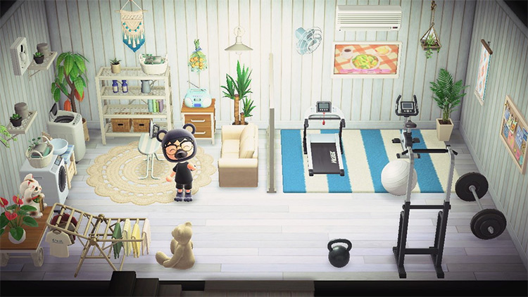 Gym and Laundry Room Idea - ACNH