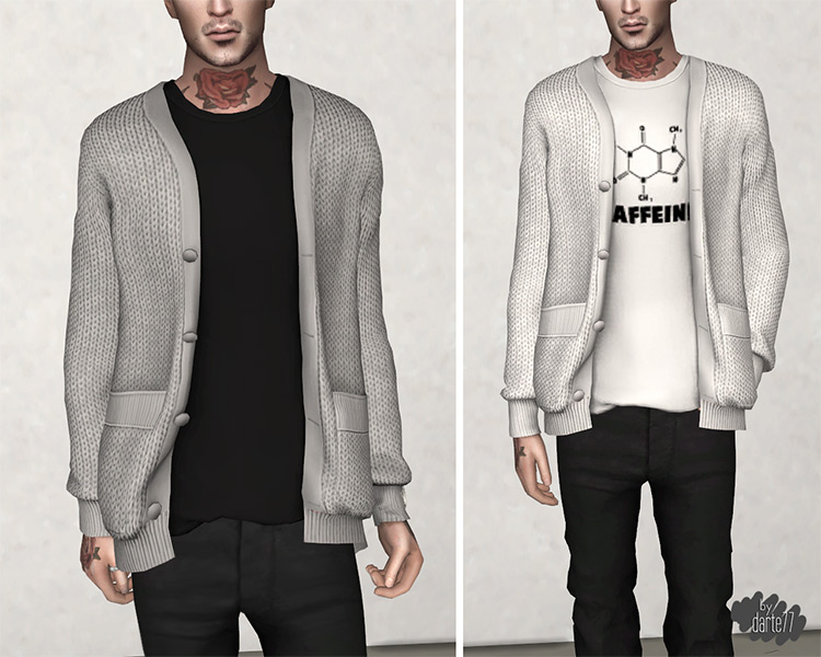 Darte77's Knitted Cardigan for Sims 4