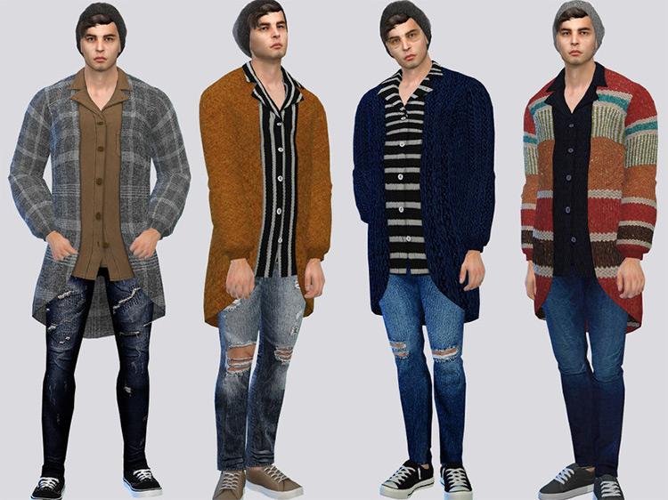 McLayneSims' Long Male Cardigan TS4 CC