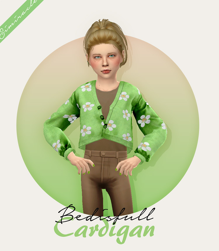 Fabienne's Bed is Full Cardigan for Children TS4 CC