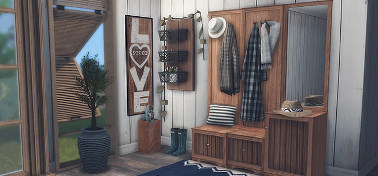 Sims 4 Princessbliss Entryway CC Set