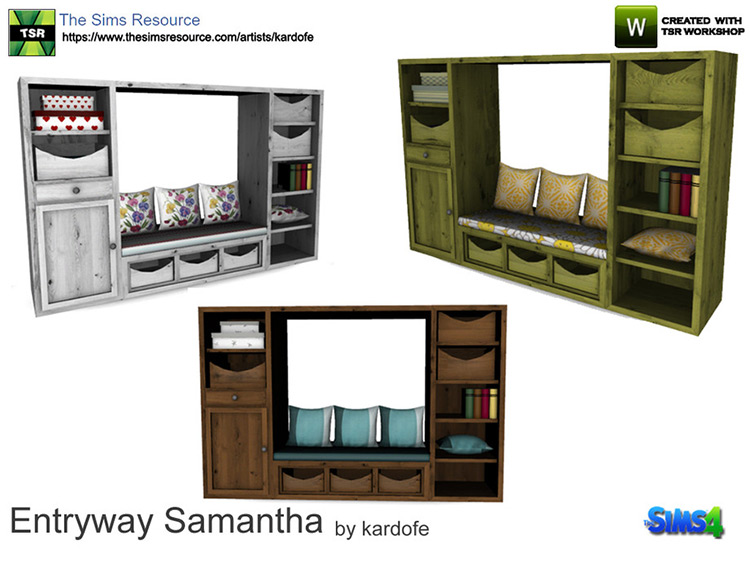 Entryway piece of storage furniture - Sims 4 CC