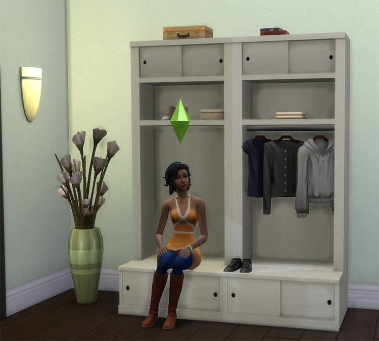 Entryway hall tree and storage piece - Sims 4 CC