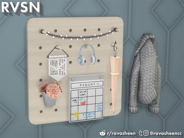 Entryway Pegboard Cc For Sims 4
