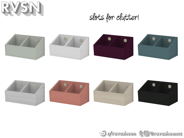 Double cubby storage boxes - Sims 4 CC