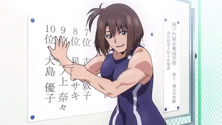 Yuko Oshima in Keijo! anime