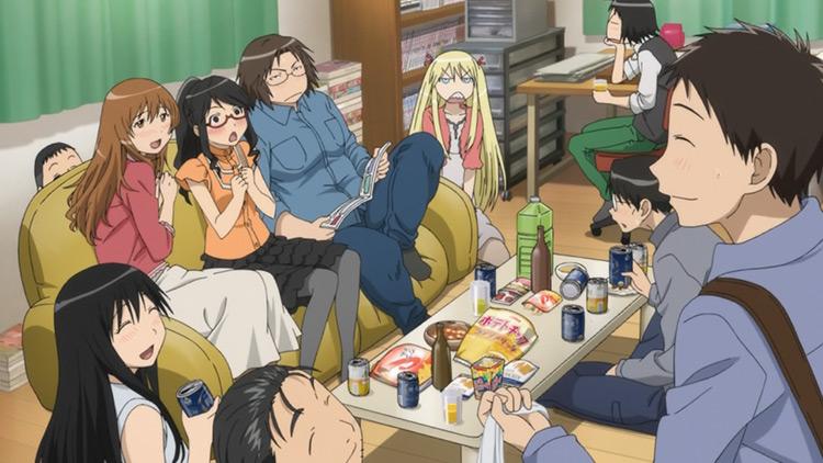 Captura de pantalla del anime Genshiken