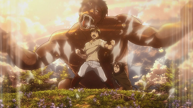 The Founding Titan in Attack on Titan anime