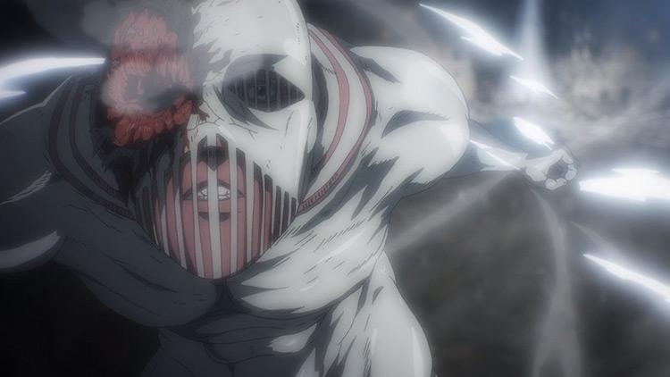 The War Hammer Titan Attack on Titan anime screenshot