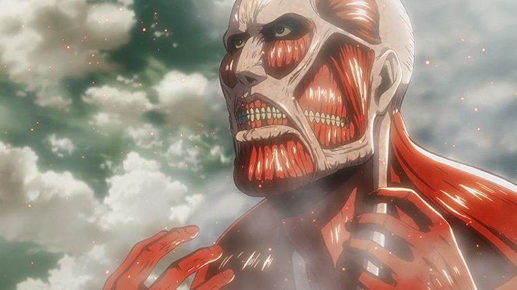 The Colossal Titan from AoT anime