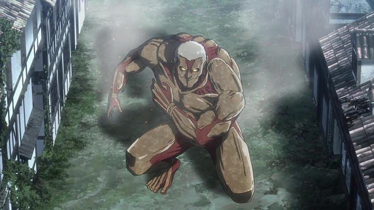 The Armored Titan in Attack on Titan anime