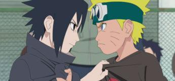 Young Naruto and Sasuke Fight Screenshot
