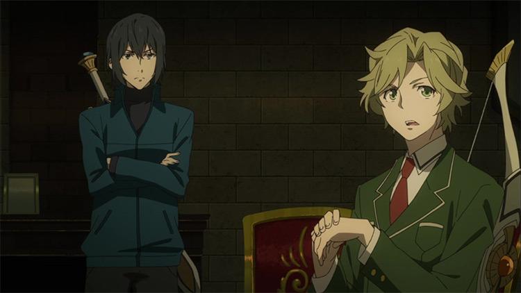 Itsuki Kawasumi and Ren Amaki in The Rising of the Shield Hero