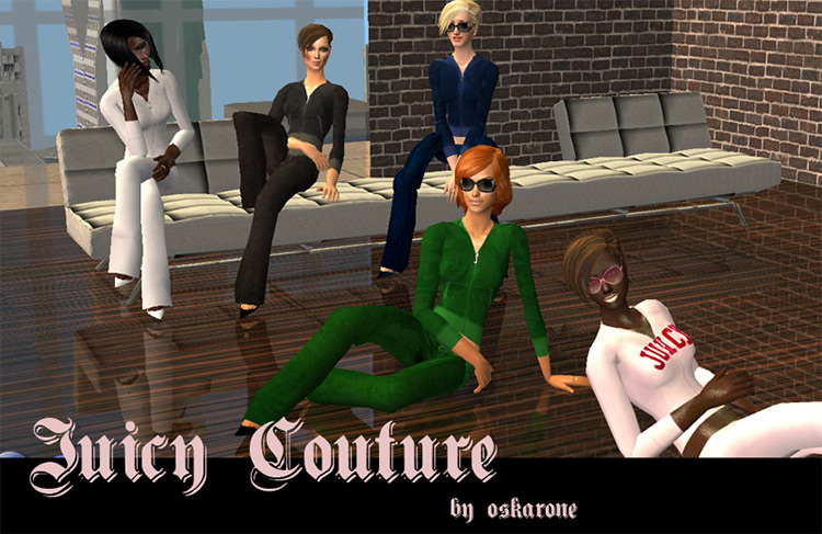 Juicy Couture Tracksuit CC - The Sims 4