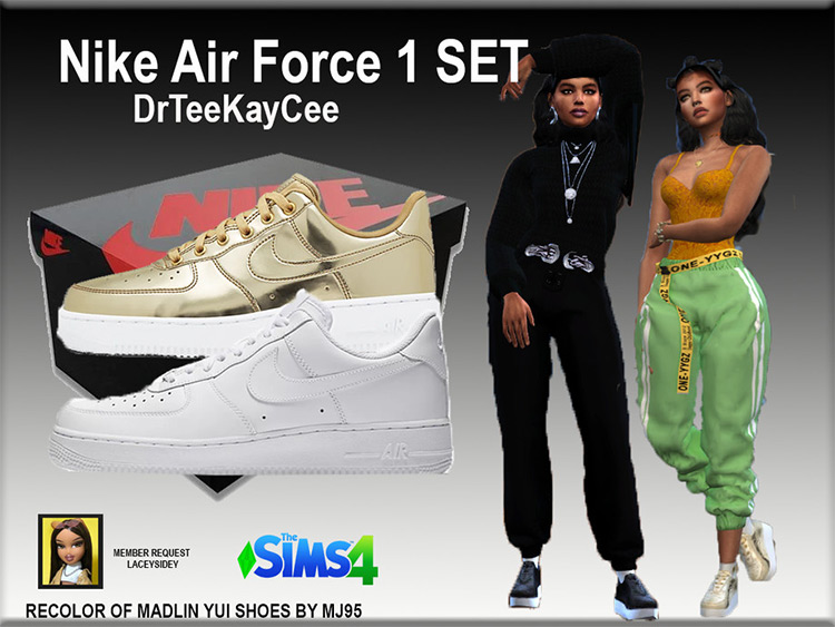 Nike Air Force 1 Sneakers - Sims 4 CC