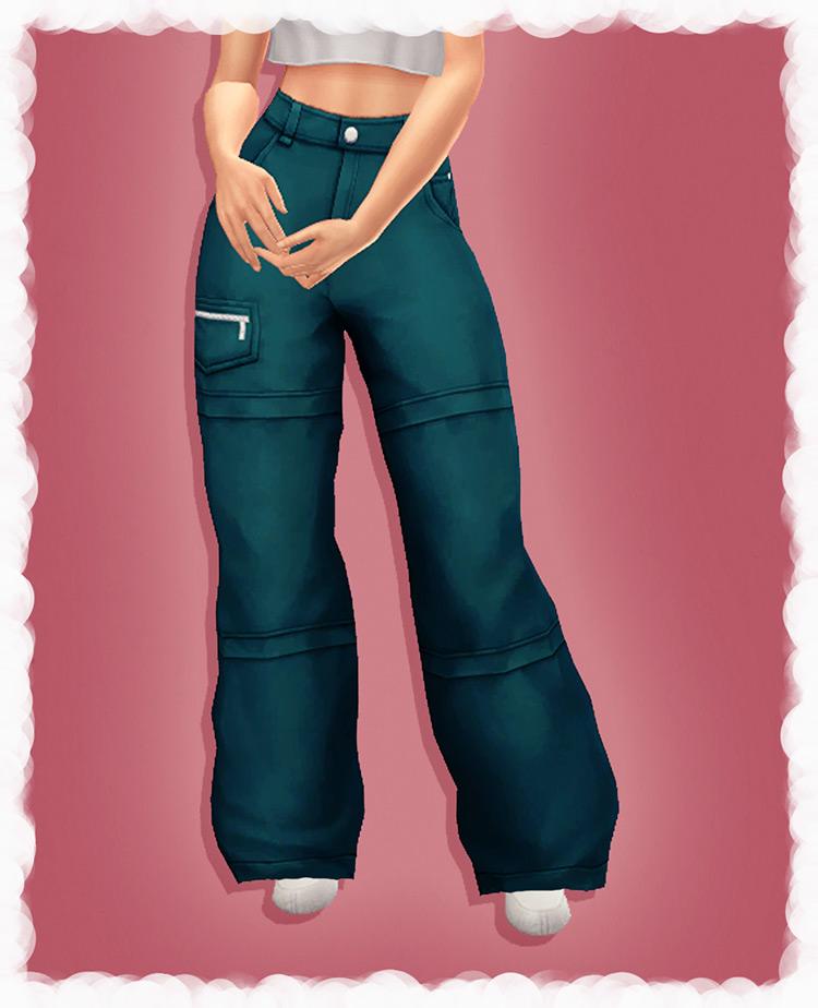 Baggy 2000s Pants - Sims 4 CC