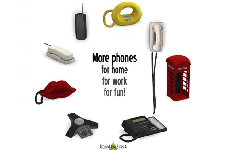 Home phones CC set - Sims 4