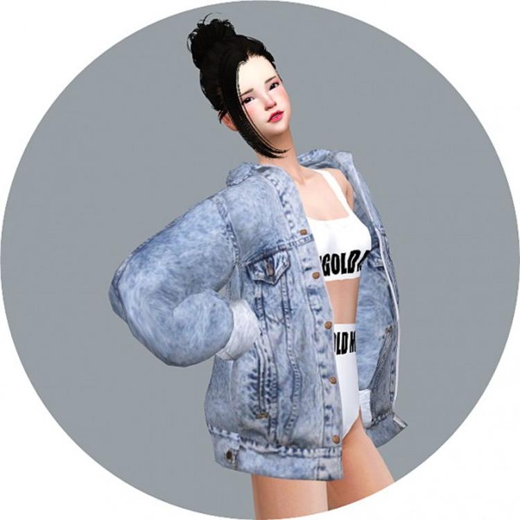 Denim Jacket Design - Sims 4 CC