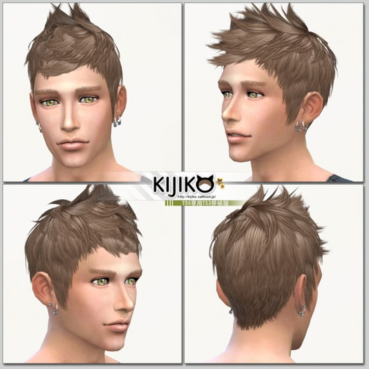 Fauxhawk Hairstyle CC for The Sims 4