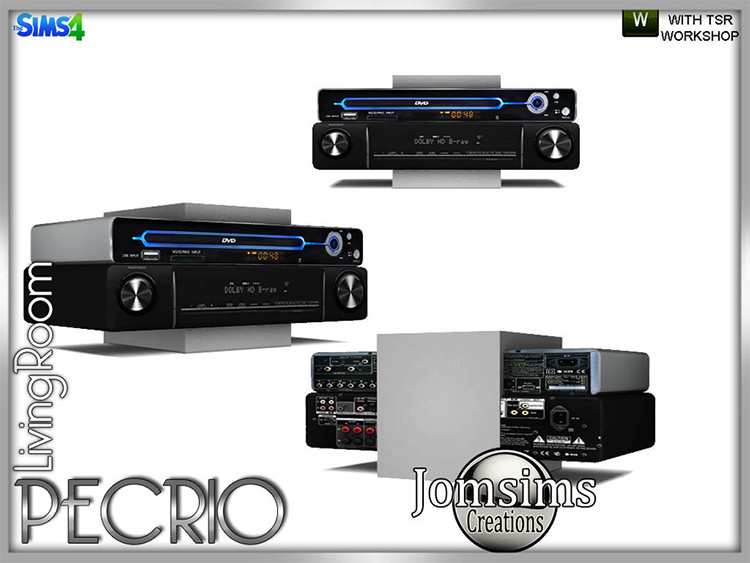 Pecrio CD/DVD System Player Device - Sims 4 CC