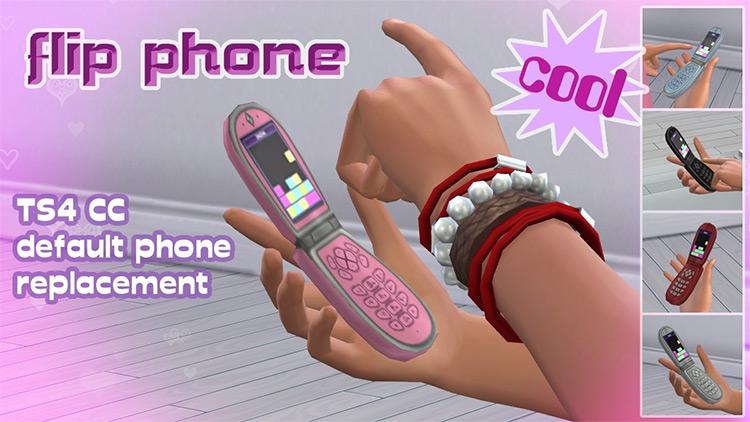 2000S Era Flip Phone Cellphone Cc - Sims 4