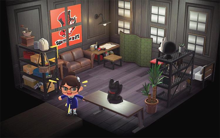 Persona 5 Cafe Leblanc Room - ACNH Idea