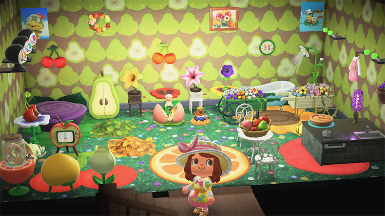 Fruity Flower Loft Area - ACNH Idea