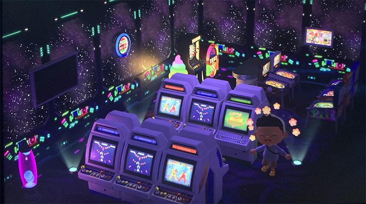 Galactic Arcade Interior - ACNH Idea