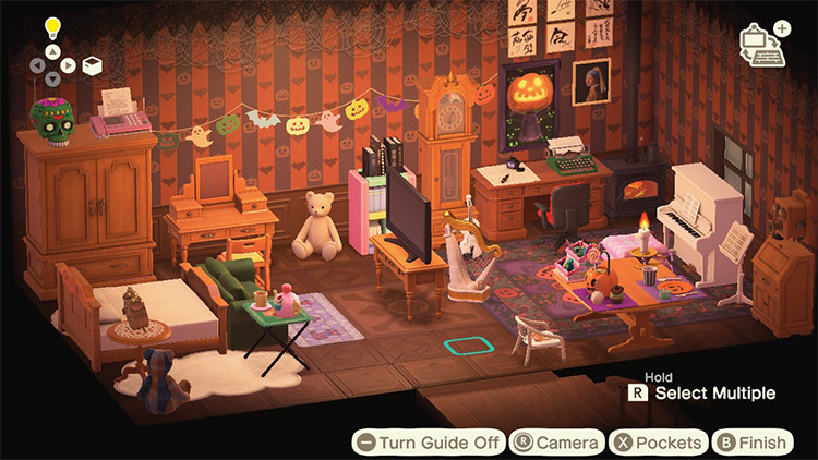 Spooky Attic Design Idea - ACNH Screenshot