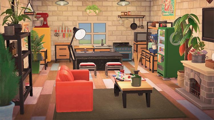 Kitchen Loft Attic Design - ACNH Idea