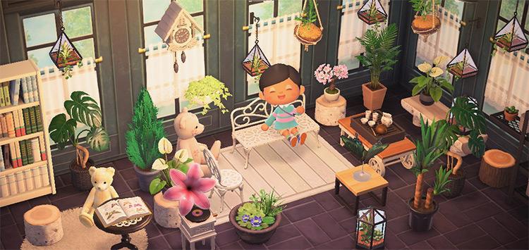 Botanical Garden Attic Interior - ACNH Idea