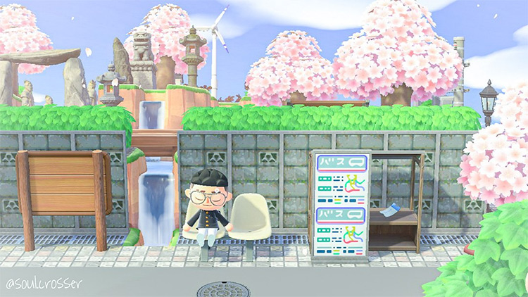 Blossoming Garden Bus Stop in ACNH