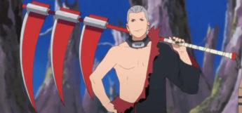 Hidan with Scythe - Naruto Anime Screenshot