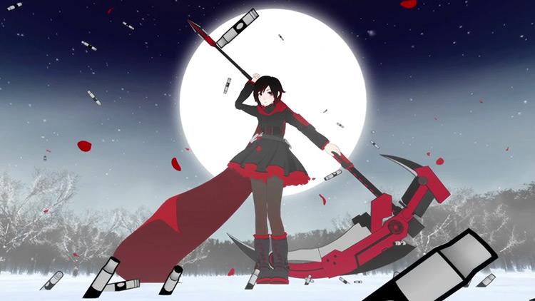 Ruby Rose RWBY anime screenshot