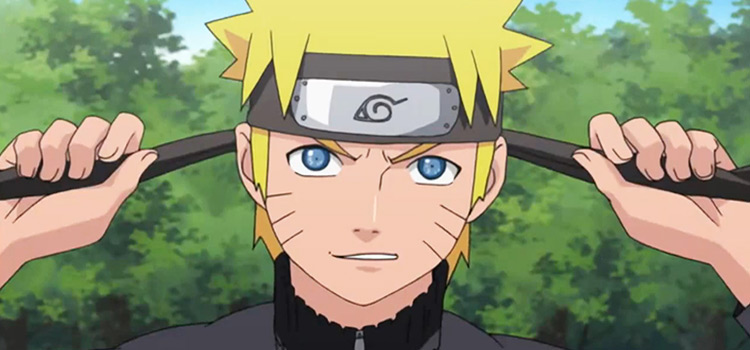Naruto Tying His Headband
