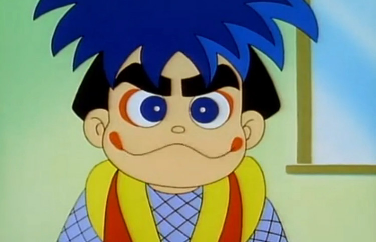 Goemon in Ganbare Goemon anime