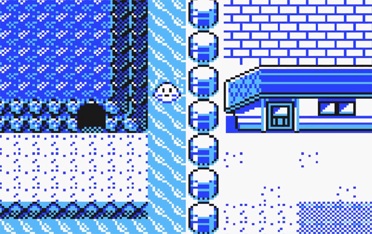 Cerulean Cave Entrance in Pokemon Yellow