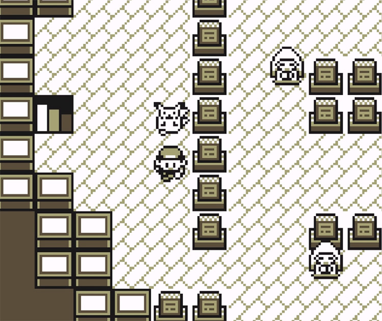 Inside Pokemon Tower Screenshot in Yellow Version