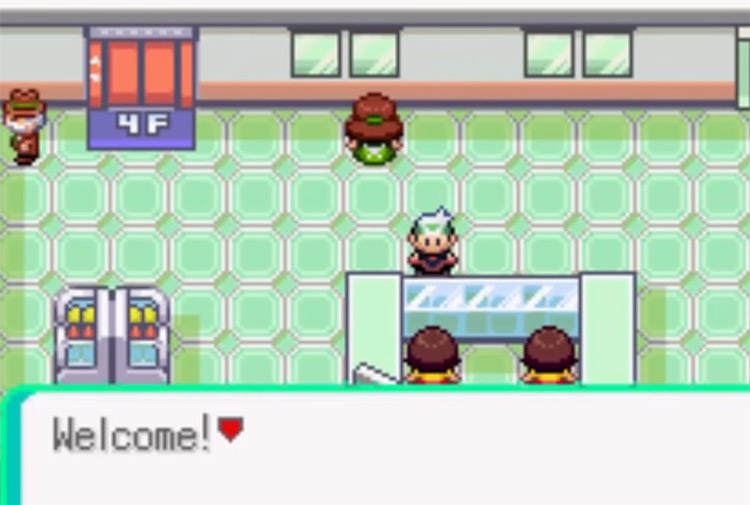 Buying TM25 in Lilycove Department Store in Pokemon Emerald