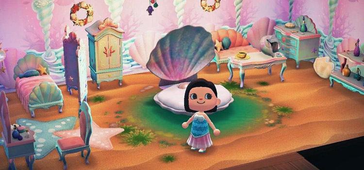 ACNH Mermaid Design Ideas & Mermaid Room Inspo