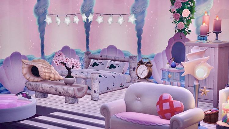 Modern Mermaid Bedroom Idea in ACNH